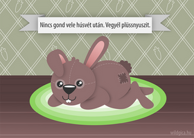No problem after Easter. Buy plush bunnies. by wildgica