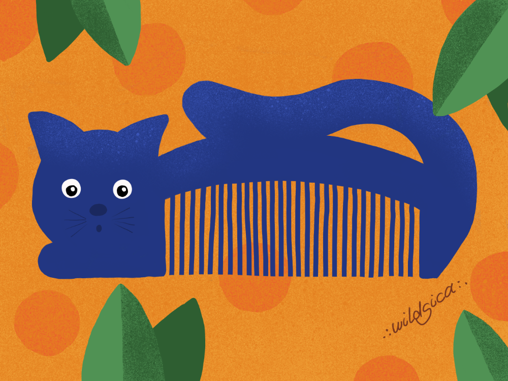 Retro Cat Comb