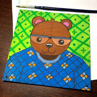 Bear on wood by wildgica