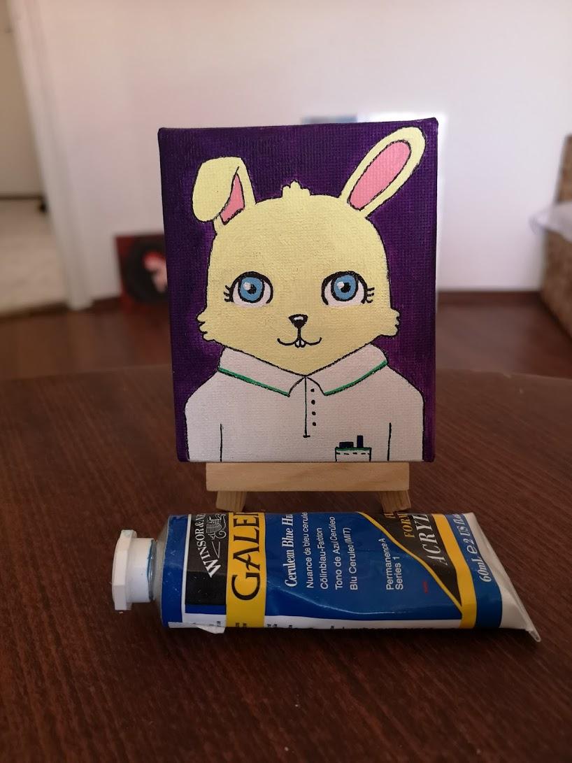 Blue eyed bunny