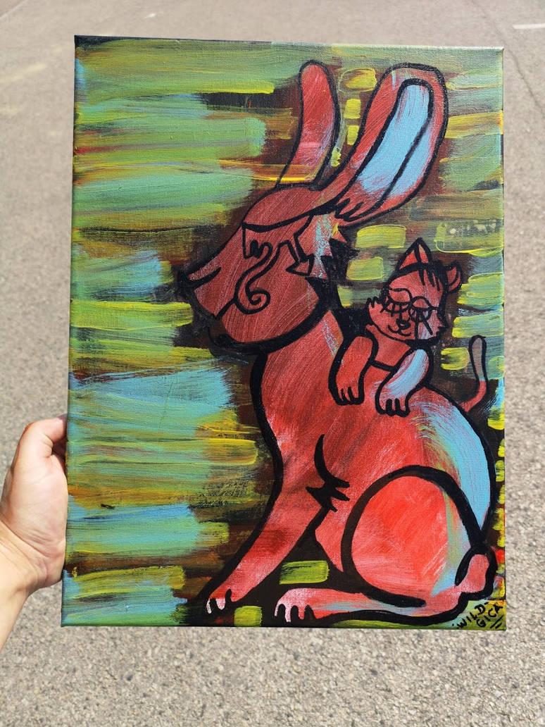 Giant bunny by wildgica