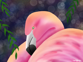 Too Much Flamingo by wildgica