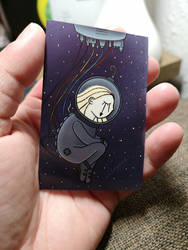 Astronaut on ZINK Paper by wildgica