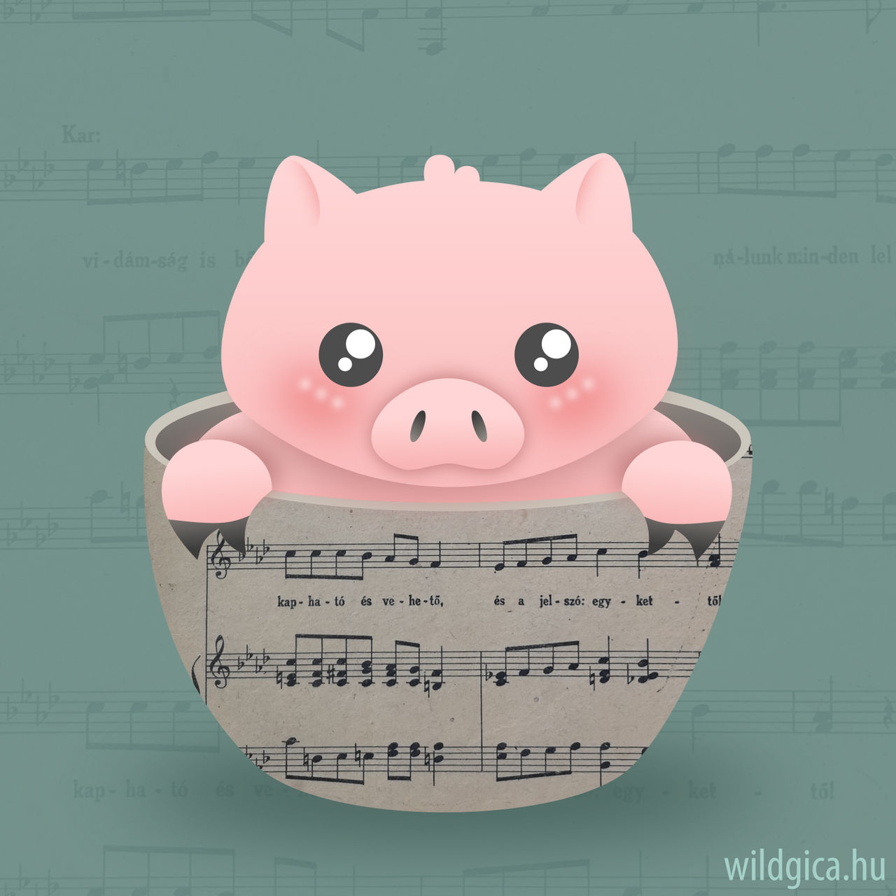 Sheet Music Piggy