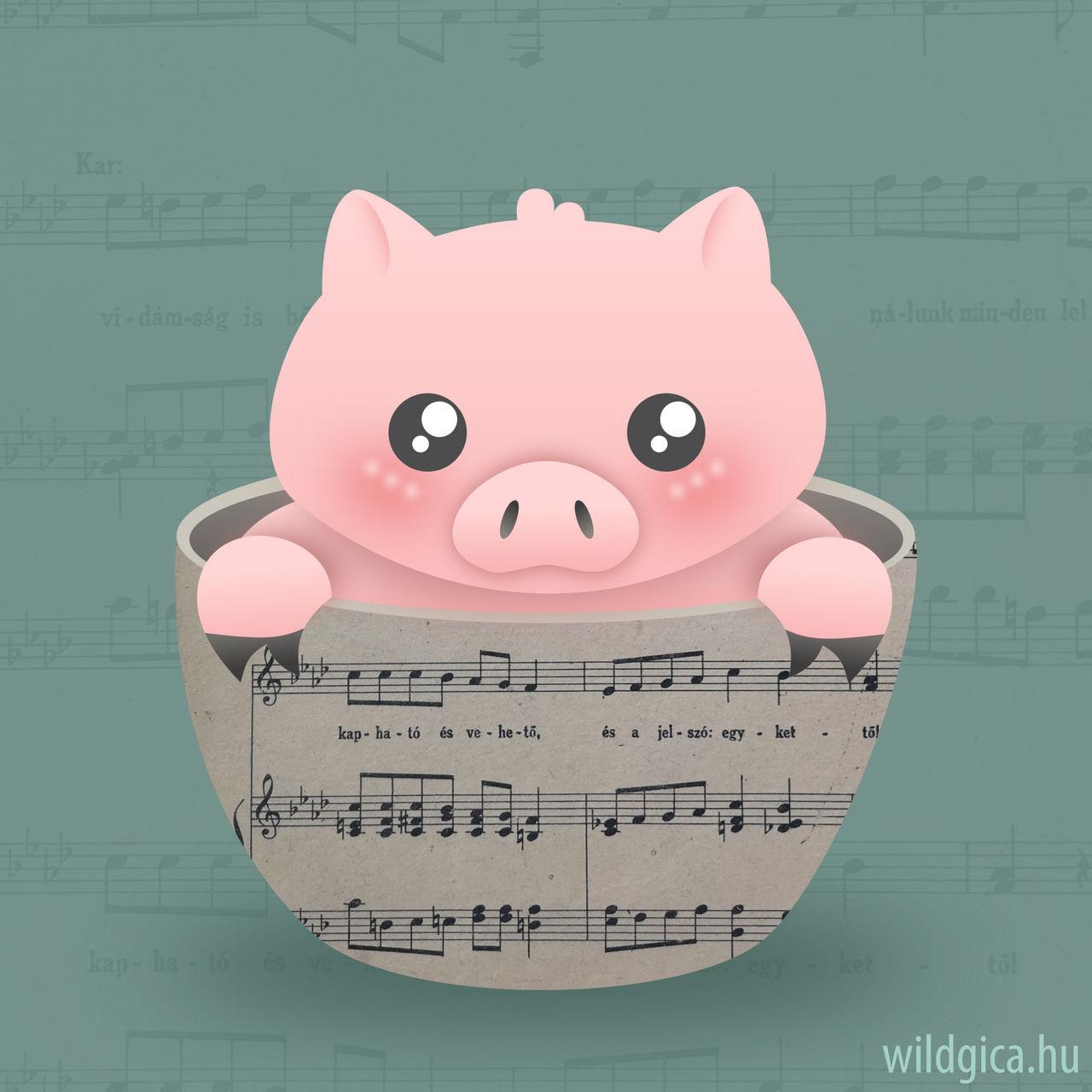 Sheet Music Piggy