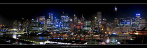 Sydney at night by subaqua
