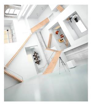 3D Escher building