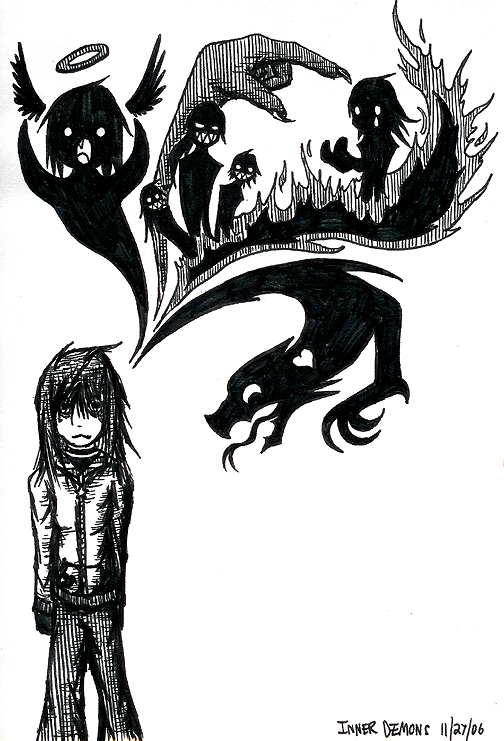 Inner demon drawings