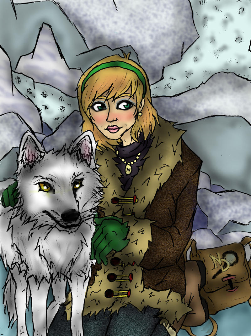 The White Wolf of Icicle Creek by artemisroseshadow