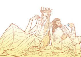 Thorin and Thranduil by aprilis420
