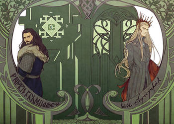 Thorin and Thranduil by aprilis420