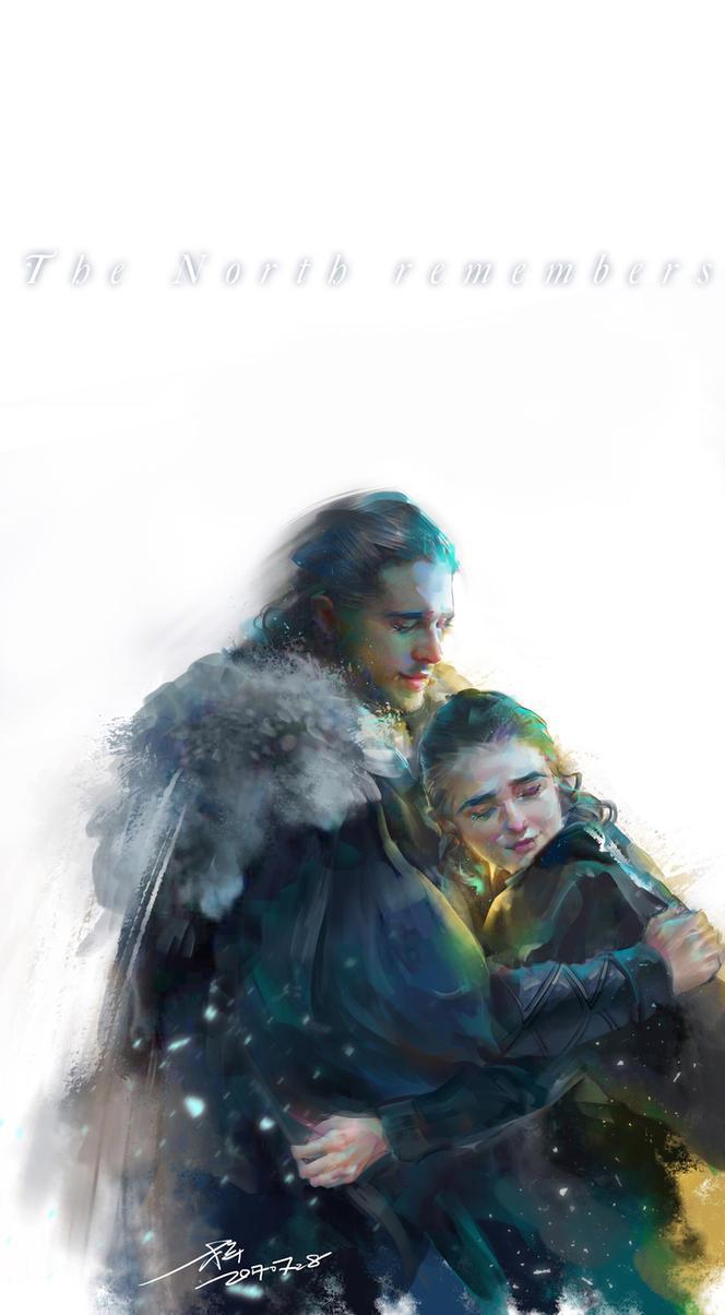 TSOIAF-Jon Snow Arya Stark by aprilis420