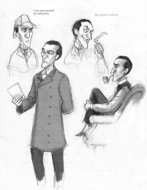 Holmes sketchdump by AdAbsurdum