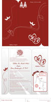 hali wedding card invitation
