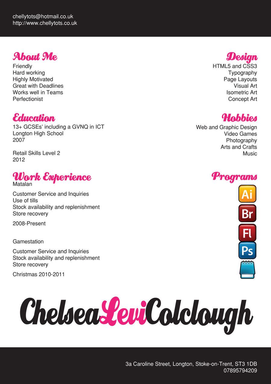 My CV by ChellyTots