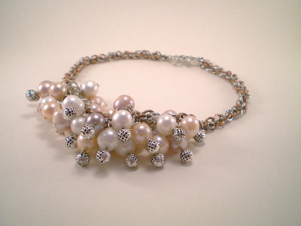 Pearl Ruche Necklace by Eiriel