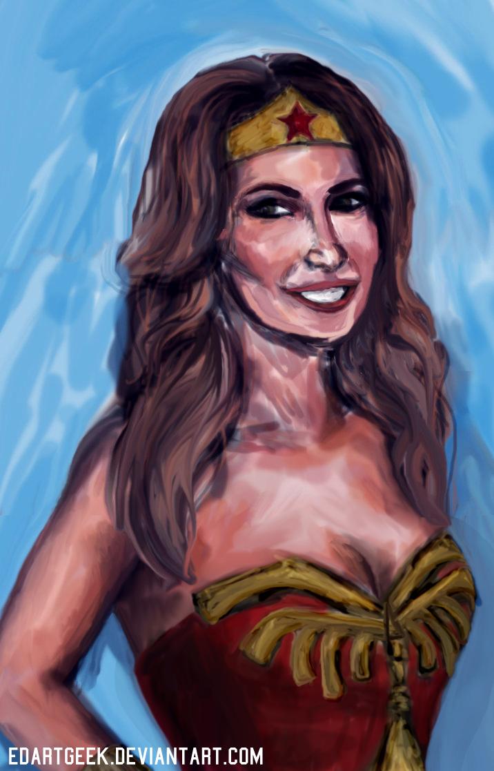 Shania Twain as Wonder Woman by EdArtGeek