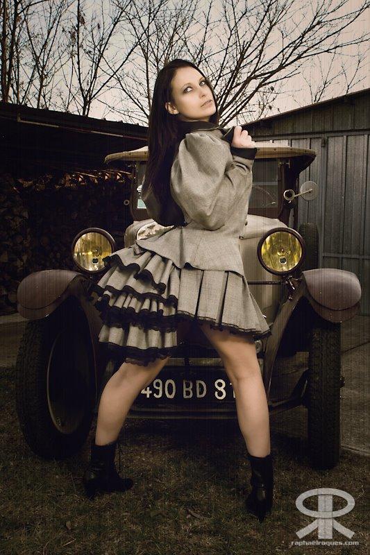 Steampunk victorian mini skirt ensemble by grafik-fashion