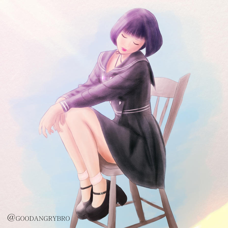 Girl On A Chair by goodangrybro