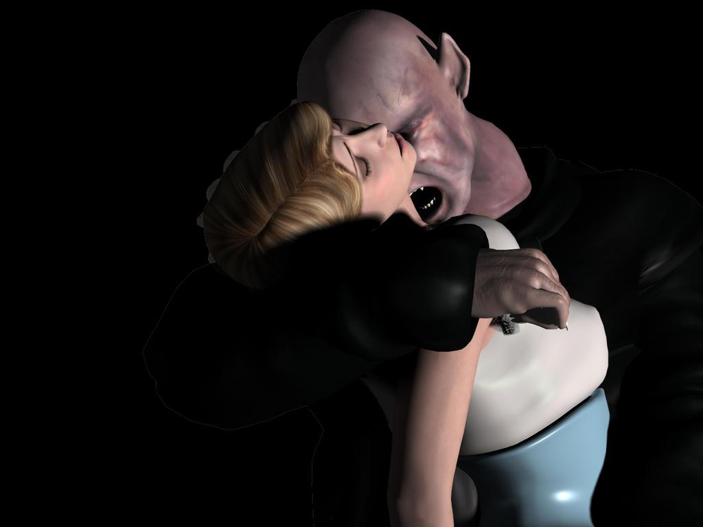 Sexy Vampire Girl Bite Neck-7038