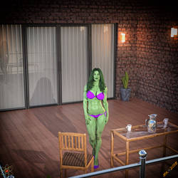 She-Hulk Birthday Patio