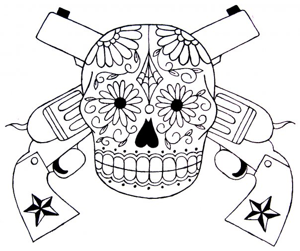 Skull And Guns Unfinished By Ifinch On Deviantart: Skull And Guns WIP By Kristenstreu On DeviantArt