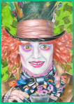 Mad as a hatter.