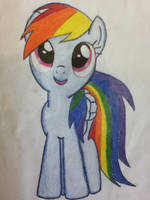 Rainbow Dash Drawing by 13light