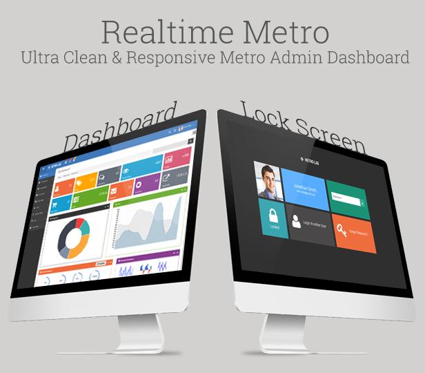 Metro Lab - Responsive Metro Dashboard Template