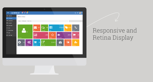 WordPress Theme Responsive Metro Lab Responsive Metro Dashboard