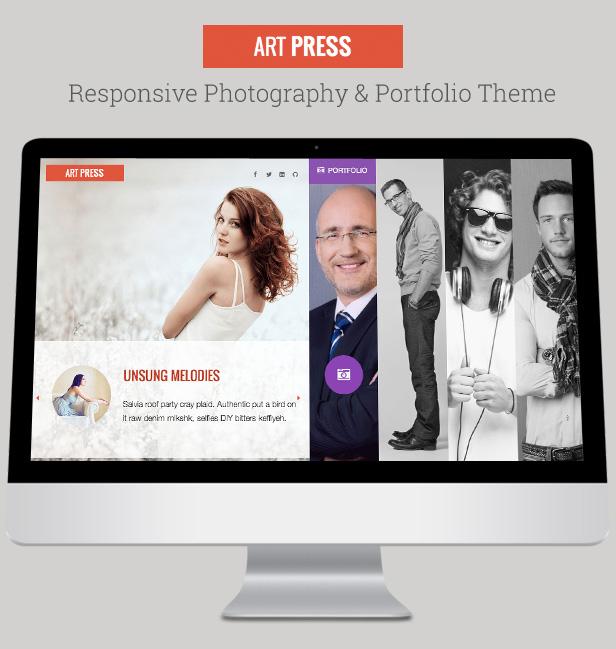 ArtPress One Page Responsive Creative Portfolio