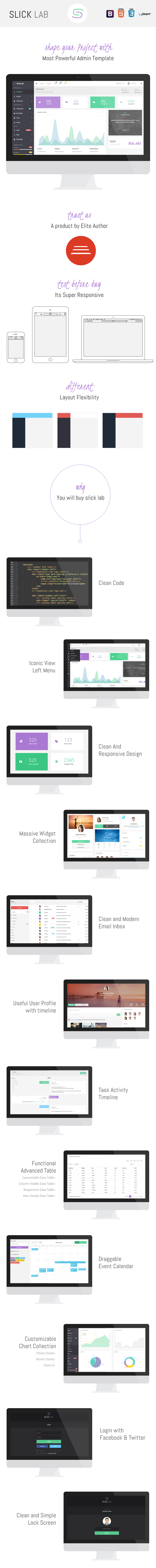 SlickLab - Responsive Admin Dashboard Template - 1