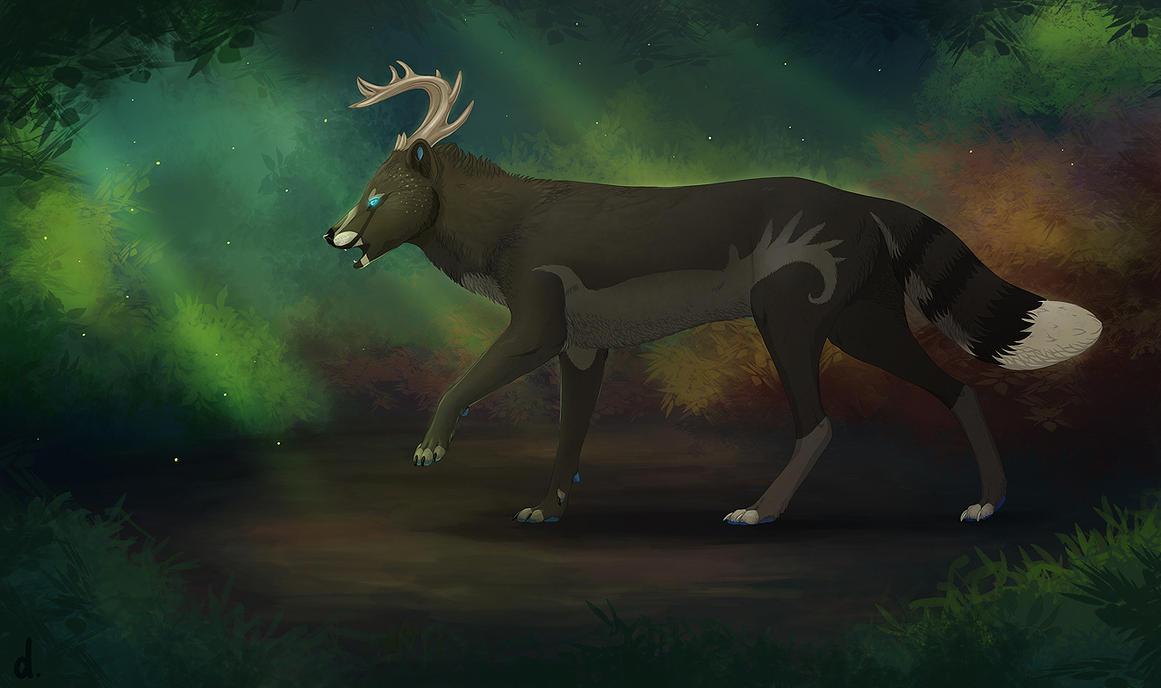 The Little Deer by dschunai