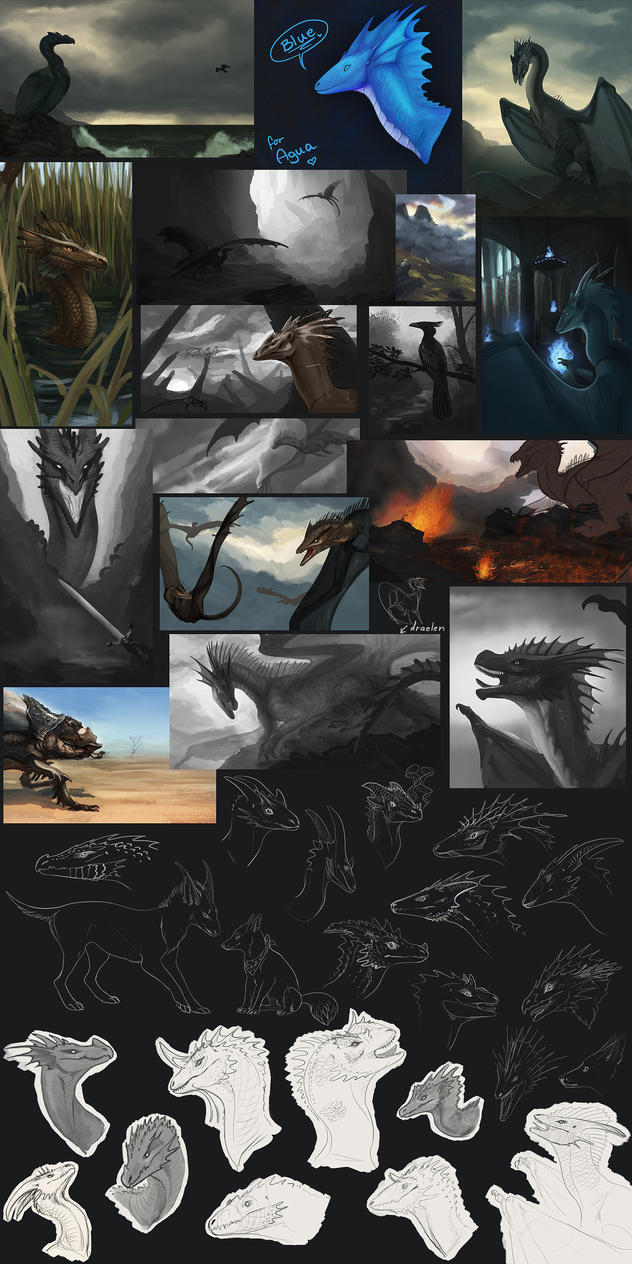 d's 2013 Wips and Sketches II by dschunai
