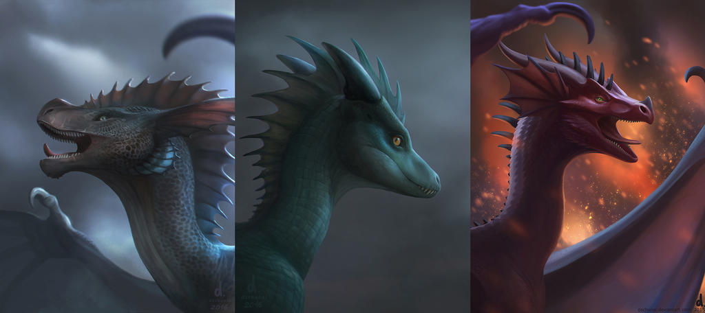Portrait Illustration examples by dschunai