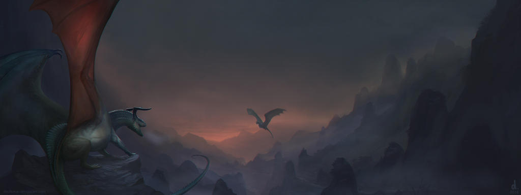 Landscape Illustration example by dschunai