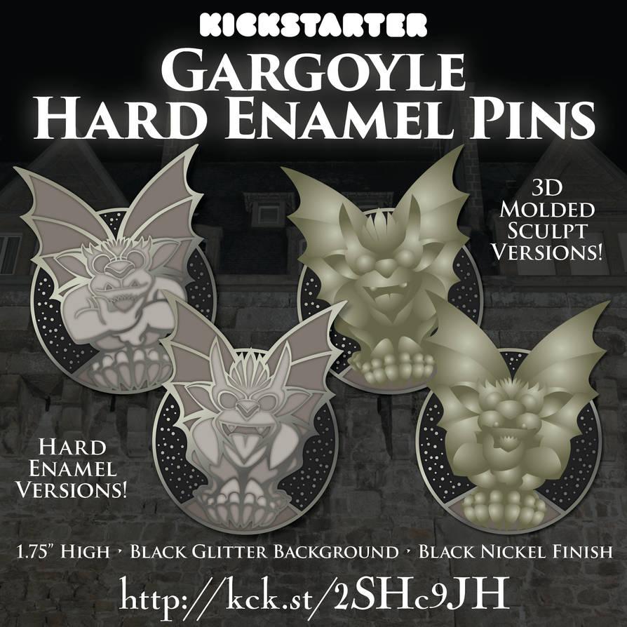 Gargoyle Pins Kickstarter by Hawkstone