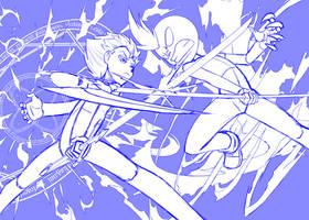 Xavier Vs Jr by senji-comics