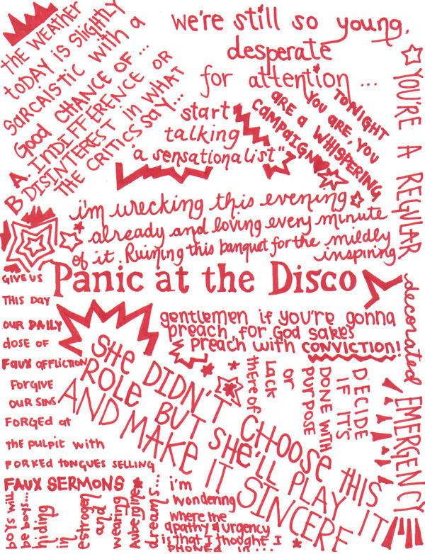 lyrics panic at the disco i: