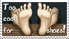 Too Cool for Shoes Stamp by Busiris