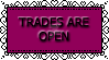 Trades Are Open Stamp by WingsUnchained