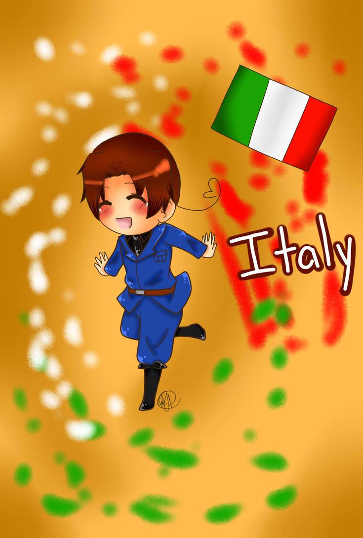 Chibi Italy by MoonofTheGothicJinks