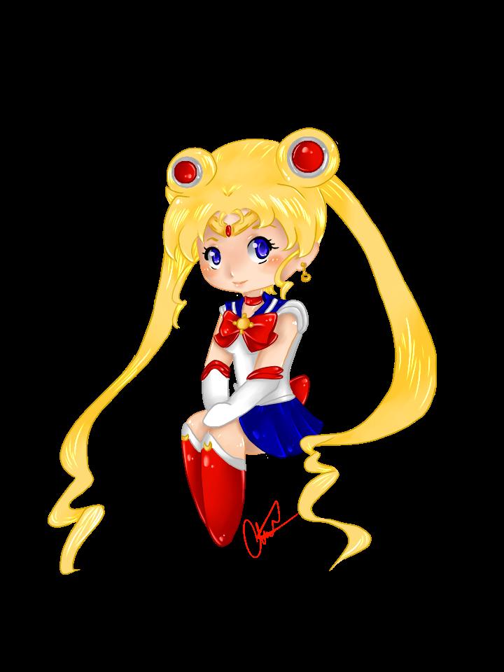 Chibi Sailor Moon *Digital* by MoonofTheGothicJinks