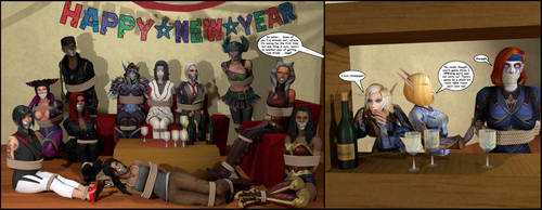 Gadreela's New Year Party! (Full Res in Download!) by Gadreel88
