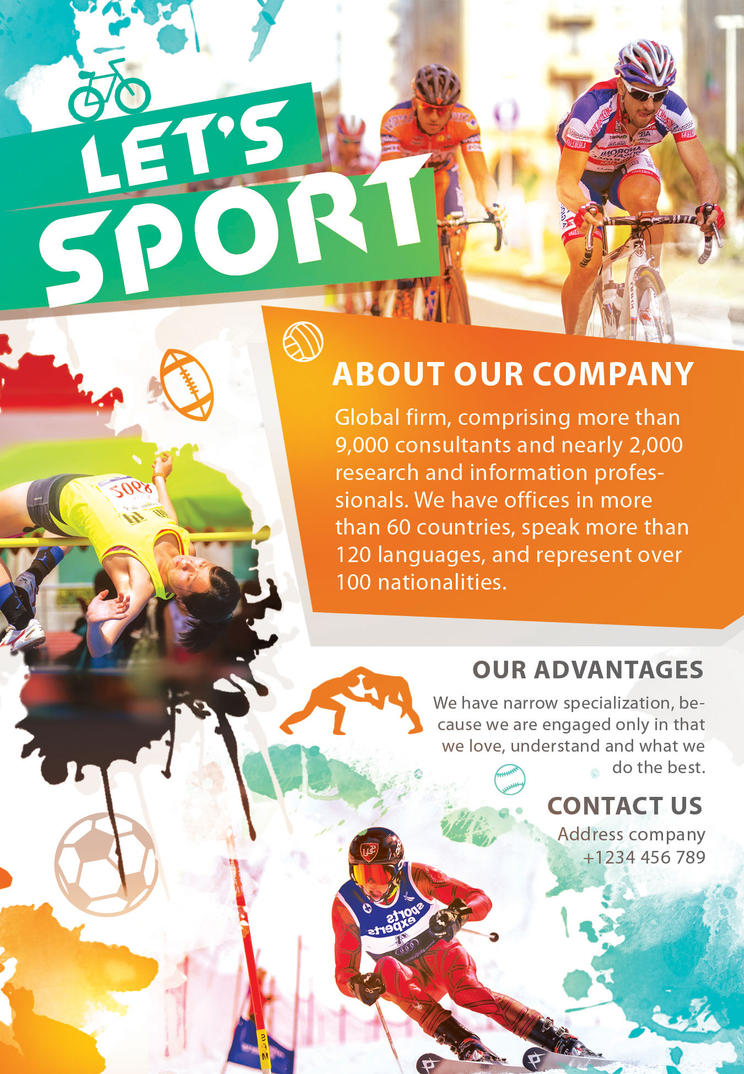 Let\'s sport flyer by Styleflyers on DeviantArt