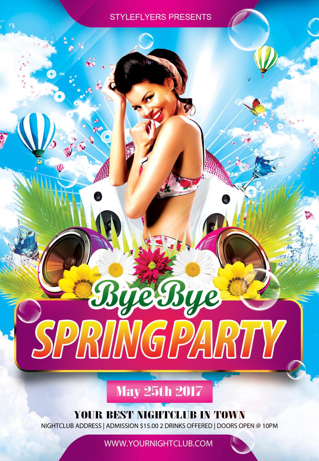 ByeByeSpringPartyFlyer by Styleflyers on DeviantArt – Spring Party Flyer