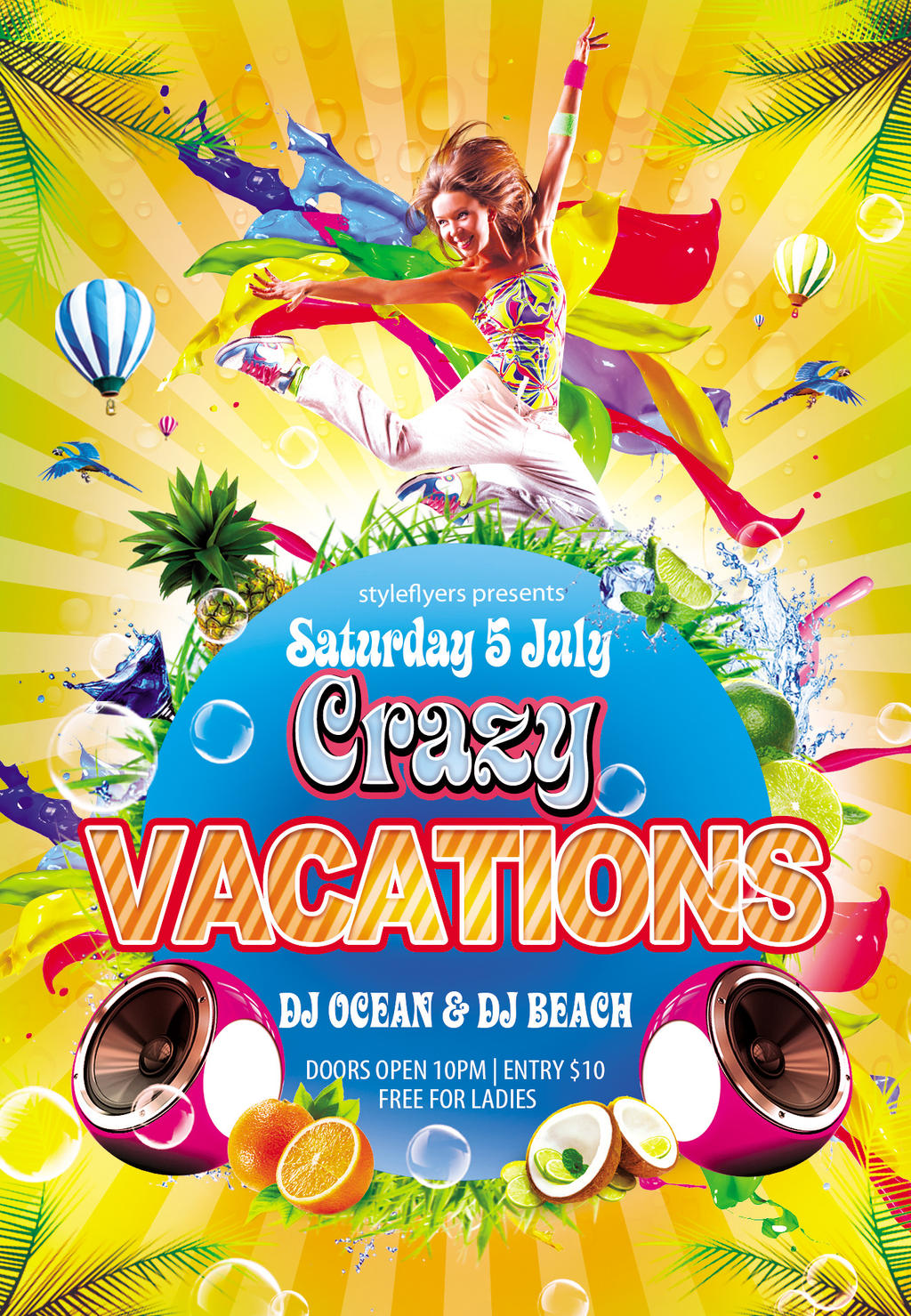 crazy vacations party flyerstyleflyers on deviantart