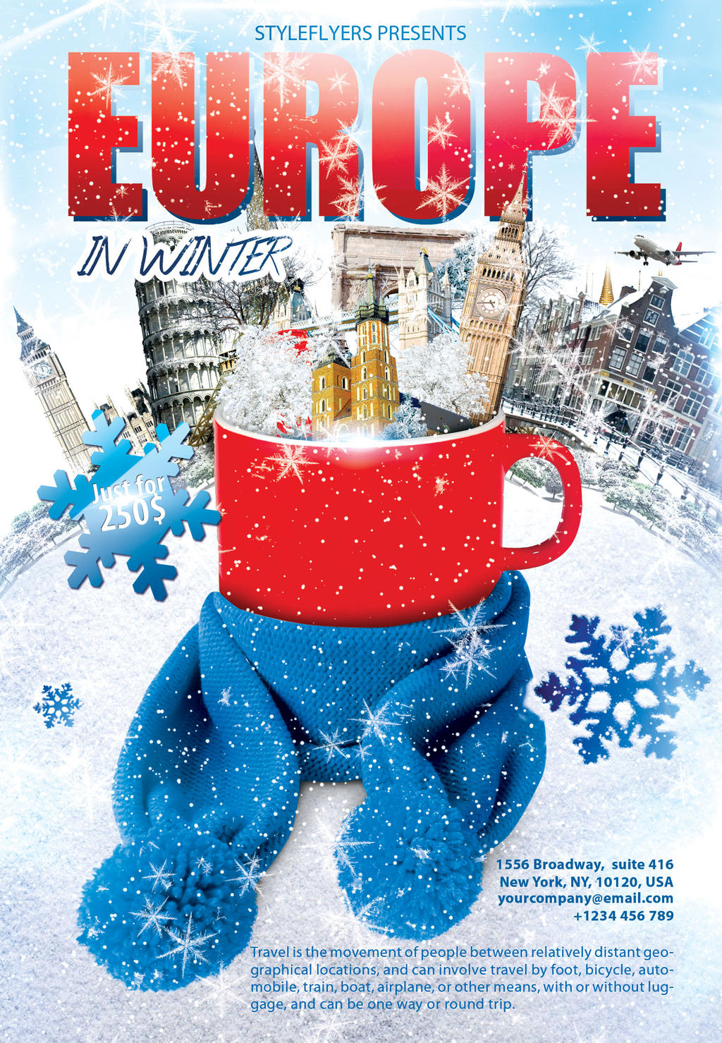 europe in winter travel flyer by styleflyers on europe in winter travel flyer by styleflyers