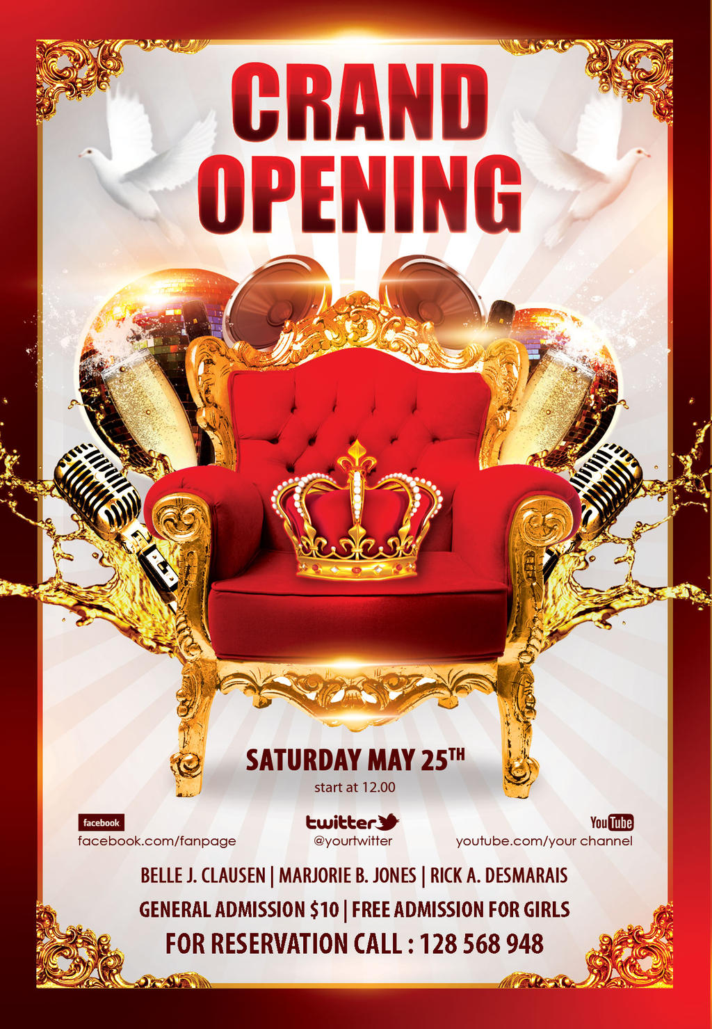 grand opening party flyer by styleflyers on deviantart. Black Bedroom Furniture Sets. Home Design Ideas