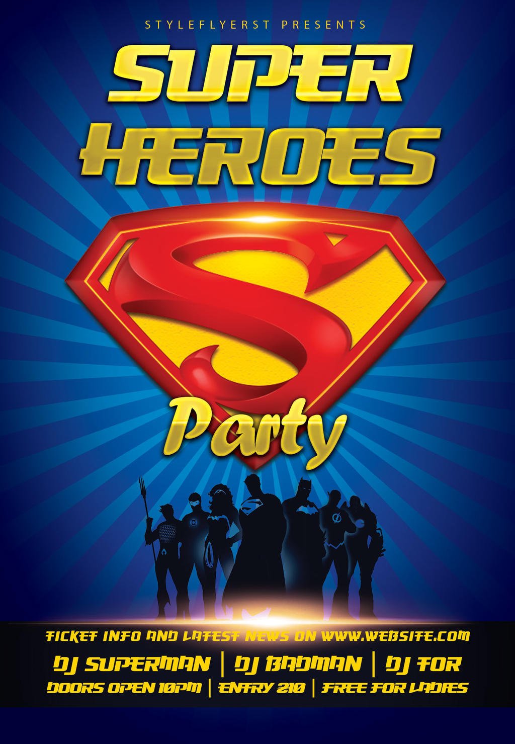 Superheroes-party-flyer by Styleflyers on DeviantArt